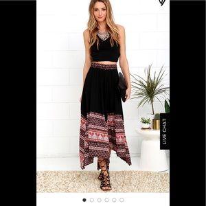 NWOT - LULU'S Paisley Print Midi Skirt